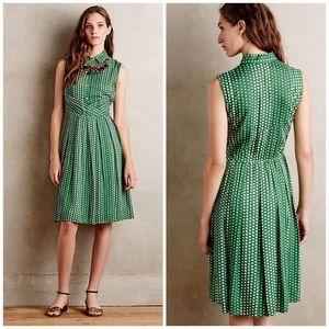 Anthropologie 11.1 Tylho Brynn Shirt Dress Polka